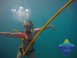 SNUBA diver loving her dive