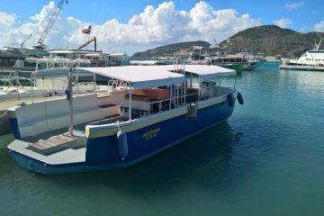 Overtaker. The boat SNUBA SXM uses
