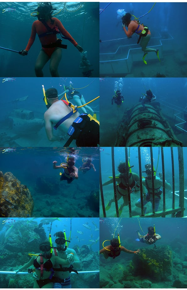 Sample picture of easy diving underwater